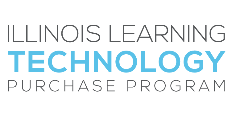 Illinois Learning Technology Purchase Program with 'Technology' in Blue